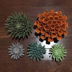 Lot of 5 Chive Coral Blossoms